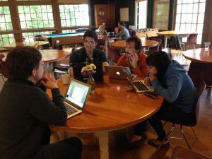 Working with projects in the mess hall